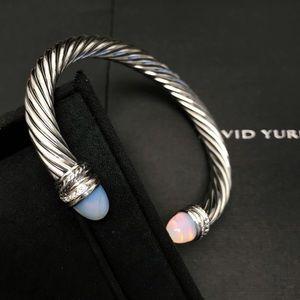 David Yurman Crossover Moonstone Diamond 7mm Cuff